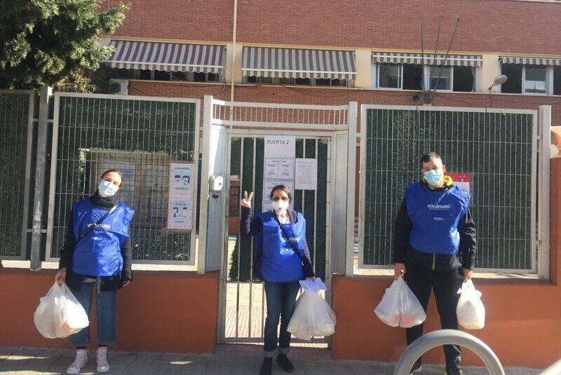 Nueva actividad de voluntariado: Reparto de comida. Las circunstancias mandan