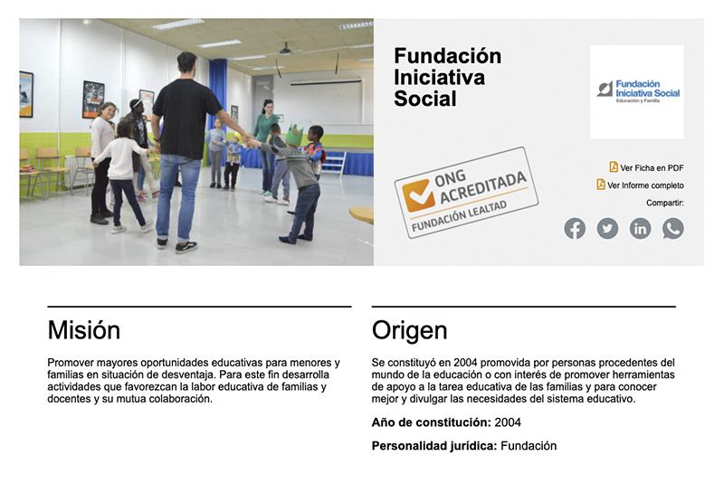 Renovación el sello de ONG acreditada de Fundación Lealtad